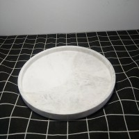 南威 **白色天然大理石家居酒店托盘套装创意家庭酒店卫浴套件用品 卫浴四件套